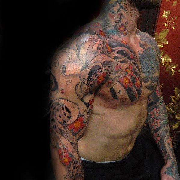 50 Octopus Sleeve Tattoo Designs für Männer - Manly Ink Ideen