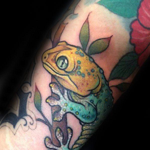 50 Gecko Tattoo Designs für Männer - Reptil-Tinte Ideen
