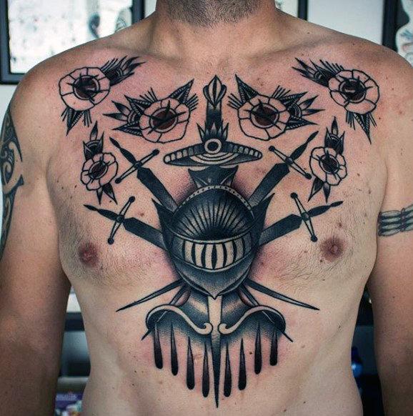 Top 80 besten Ritter Tattoo Designs für Männer - mutige und ehrenwerte Ideen