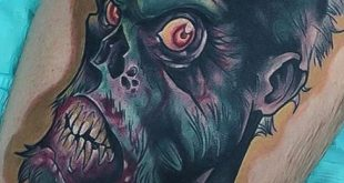 90 Zombie Tattoos für Männer - Maskulin Walking Dead Designs