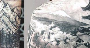 40 Mountain Tattoo Designs für Männer - Klettern bis zum höchsten Gipfel