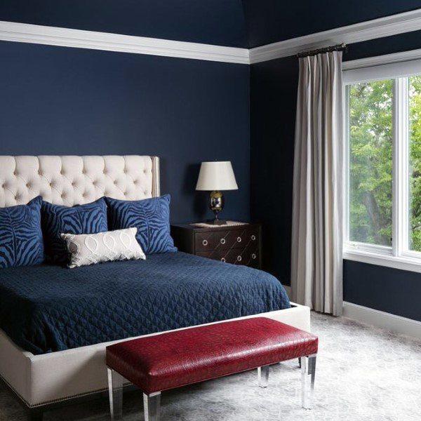 Schlafzimmer Ideen Für Männer: Top 50 Besten Navy Blue Schlafzimmer Design-Ideen