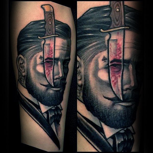 90 Dolch Tattoo Designs für Männer - Bladed Ink Ideen
