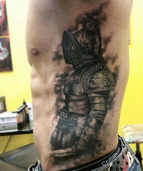 50 Gladiator Tattoo Ideen für Männer - erstaunliche Amphitheater und Rüstung