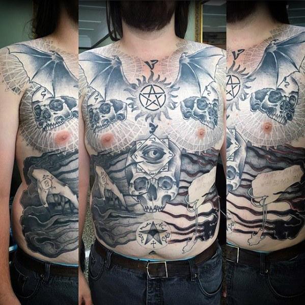 40 Anti Possession Tattoo Designs für Männer - übernatürliche Ideen