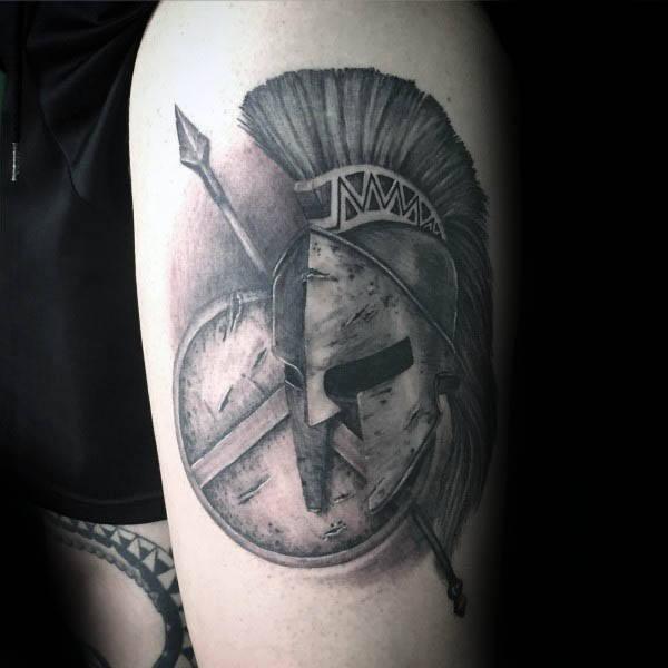 50 Speer Tattoo Designs für Männer - Sharp Warrior Emblem Ideen