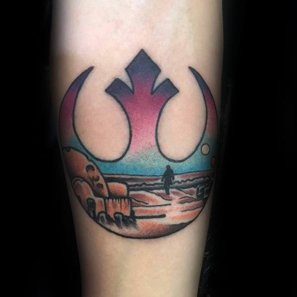50 Rebel Alliance Tattoo Designs für Männer - Star Wars Symbol Ideen