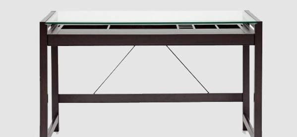 Baxton Studio Idabel Dunkelbraun Holz Schreibtisch