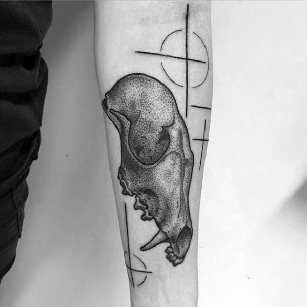 50 Fox Skull Tattoo Designs für Männer - Animal Ink Ideen