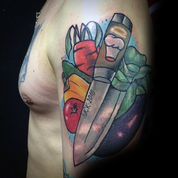 60 Kulinarische Tattoos für Männer - Cooking Ink Ideen