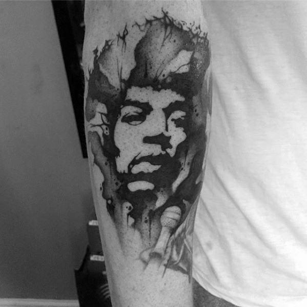 60 Jimi Hendrix Tattoo Designs für Männer - Musical Ink Ideen