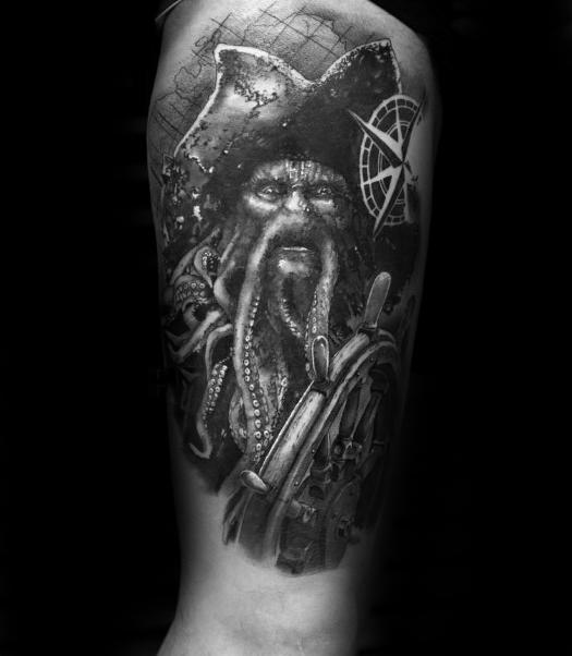 60 Davy Jones Tattoo Designs für Männer - Sailors Devil Ink Ideen