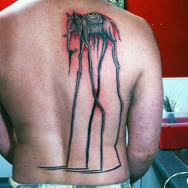 50 Salvador Dali Elephant Tattoo-Designs für Männer - Malerei-Tinte-Ideen
