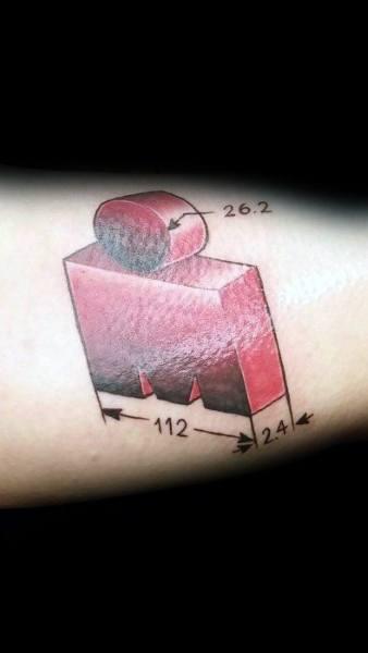 Top 40 der besten 26,2 Tattoo Designs für Männer - Laufende Marathon Tinte Ideen