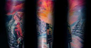 90 Snowboard Tattoo Designs für Männer - Cool Ink Ideas