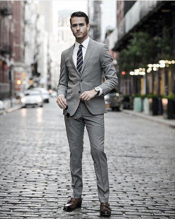 quality design 55add 12935 Top 40 besten Charcoal Grey Suit Brown Schuhe Styles für ...