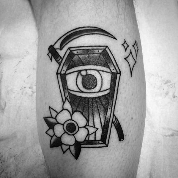 50 Scythe Tattoo Designs für Männer - Curved Blade Ink Ideen