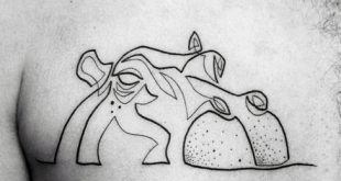 60 Hippo Tattoo Designs für Männer - Animal Ink Ideen