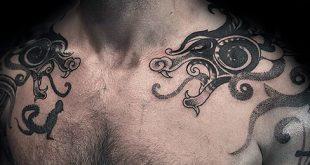 40 Drachen Schulter Tattoo Designs für Männer - Manly Ink Ideen