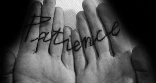 30 Patience Tattoo Designs für Männer - Word Ink Ideen