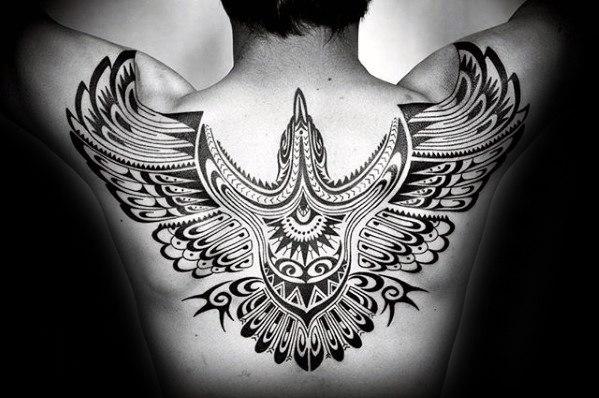 50 Tribal Bird Tattoo Designs für Männer - Cool Ink Ideas