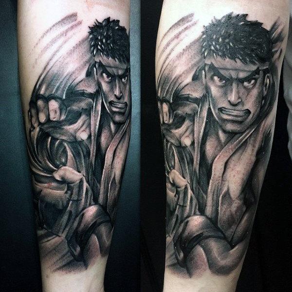 40 Street Fighter Tattoo Designs für Männer - Videospiel-Tinten-Ideen