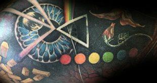 80 Pink Floyd Tattoos für Männer - Rock Band Design-Ideen