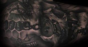 50 Bee Tattoo Designs für Männer - Ein Stich von Tintenideen