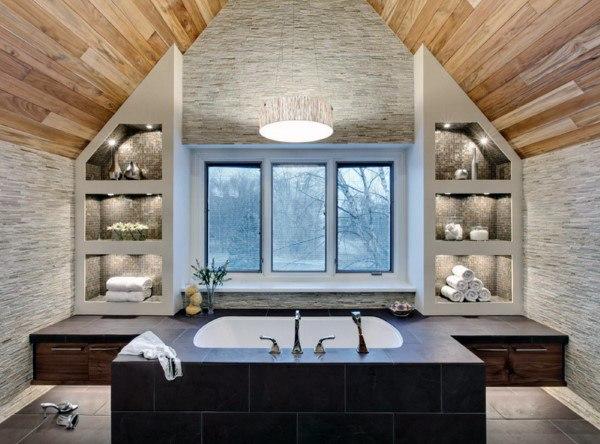 Top 50 besten badezimmer decken ideen finishing designs mann stil tattoo - Badezimmer decken ideen ...