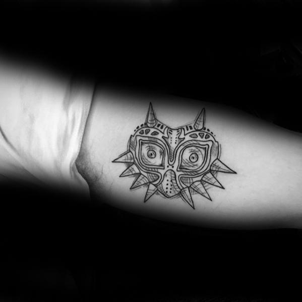 50 Majora's Mask Tattoo Designs für Männer - Die Legende von Zelda Ideen