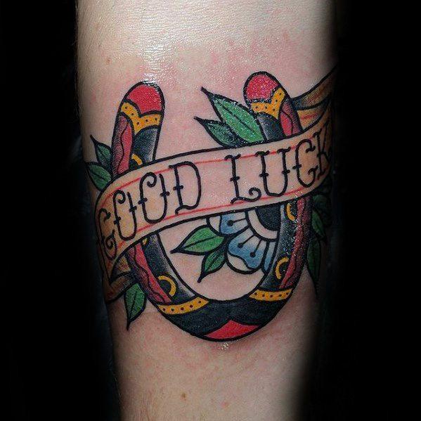 40 Glück Tattoos für Männer - Lucky Design-Ideen