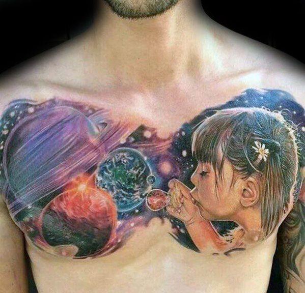 30 Bubble Tattoos für Männer - Circular Design-Ideen