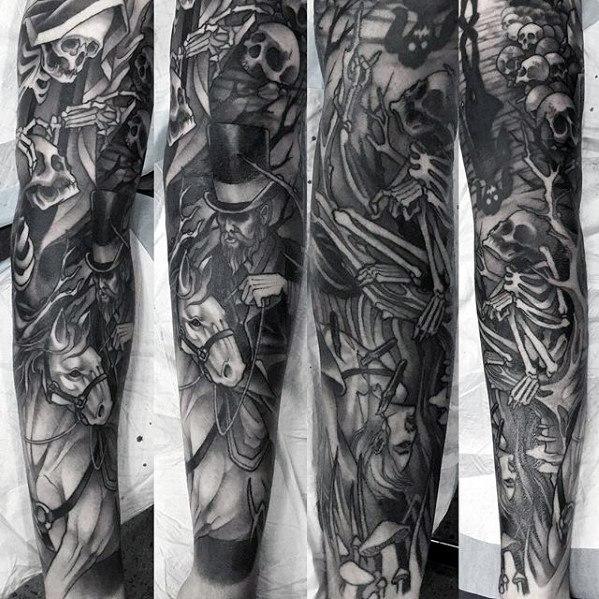 70 Pferd Tattoos für Männer - Noble Animal Design-Ideen