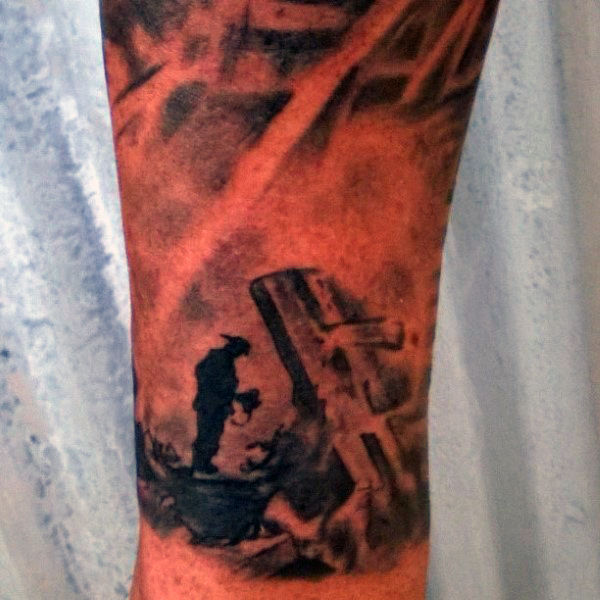 50 Feuerwehrmann Tattoos für Männer - Masculine Fireman Ideen