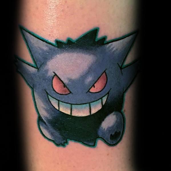 60 Gengar Tattoo Designs für Männer - Pokemon Ink Ideas