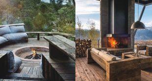 70 Outdoor Kamin Designs für Männer - Cool Fire Pit Ideen