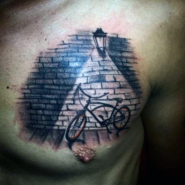 70 Fahrrad Tattoo Designs für Männer - Maskulin Radfahren Ideen