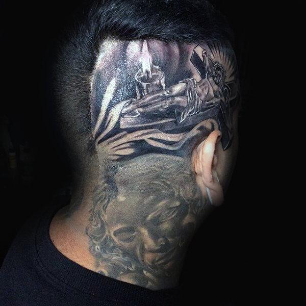 100 Kopf Tattoos für Männer - Masculine Ink Design-Ideen