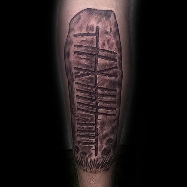 50 Ogham Tattoo Designs für Männer - Ancient Alphabet Ink Ideas