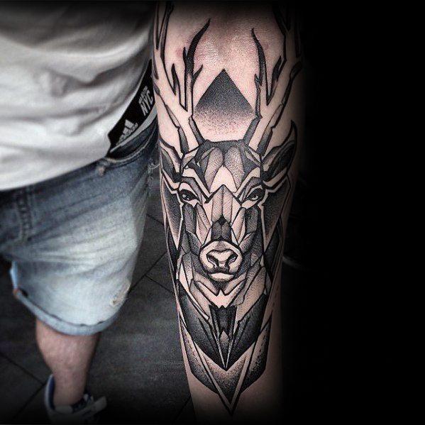 50 Geometrische Unterarm Tattoo Designs Fur Manner Manly Ideen