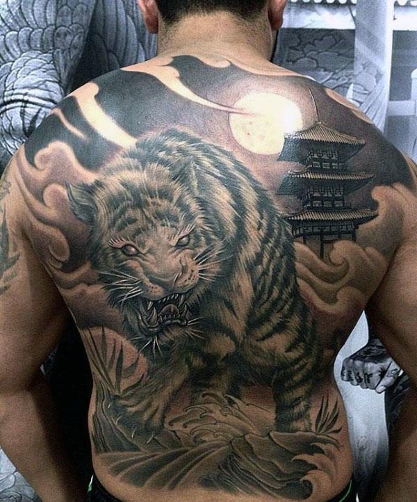70 japanische Tiger Tattoo Designs für Männer - maskuline Ideen