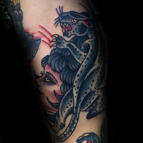50 Snow Leopard Tattoo Designs für Männer - Animal Ink Ideen