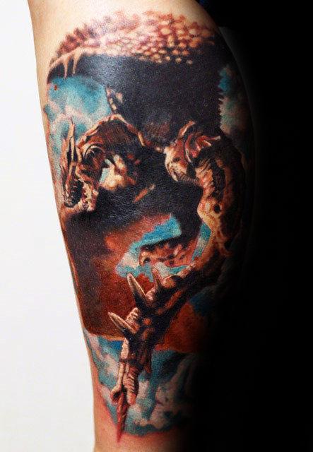 50 3D Drachen Tattoos für Männer - Fabelwesen Design-Ideen
