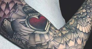 50 Claddagh Tattoo Designs für Männer - Irish Icon Ink Ideen