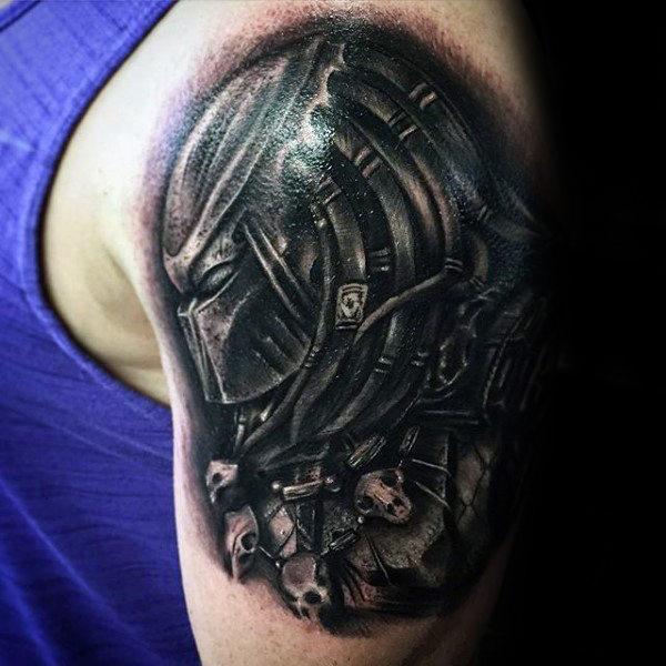 50 Predator Tattoo Designs für Männer - Sci-Fi-Tinte Ideen