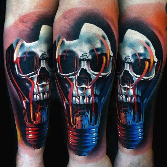 75 Glühbirne Tattoo Designs für Männer - helle Tinte Ideen
