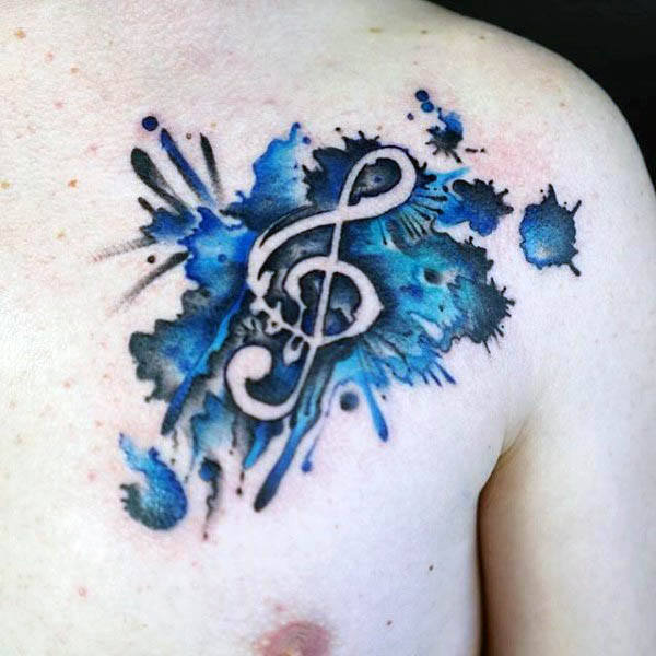 80 Violinschlüssel Tattoo Designs für Männer - Musical Ink Ideas