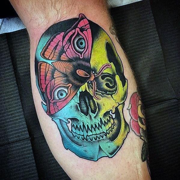 60 Badass Schädel Tattoos für Männer - Maskulin Design-Ideen