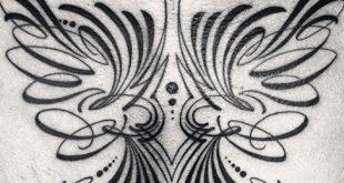 30 Nadelstreifen Tattoos für Männer - Maskulin dünne Linie Design-Ideen
