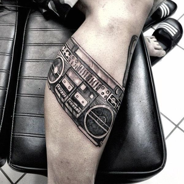 40 Boombox Tattoo Designs für Männer - Retro-Tinte Ideen